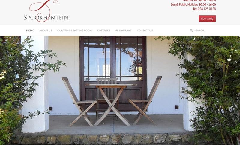 Spookfontein - Joomla website design